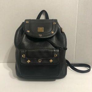 Handbags - MCM leather black back pack